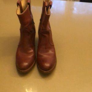 Frye cowboy booties size 9
